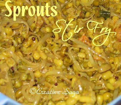 sprouts stir fried
