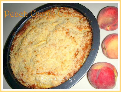 peach crumb cake