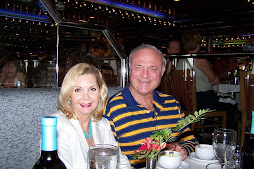 Friends Barbara and Bryan Scott on Henley honeymoon aboard ship