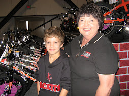 Ethan and Brenda at Bikes and Bibles