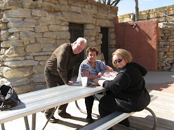 Ted, Nelda and Martha at Sorenson Cabin in Palo Duro Canyon April 2008