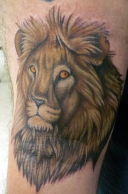 Lion Tattoo Design of latest X