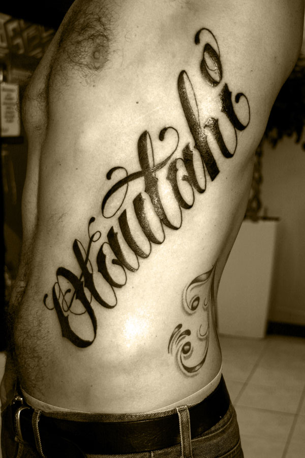 Different Tattoo Lettering Style. Lettering into a tattoo is to have it
