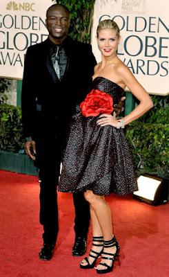 Heidi Klum Golden Globes 2009