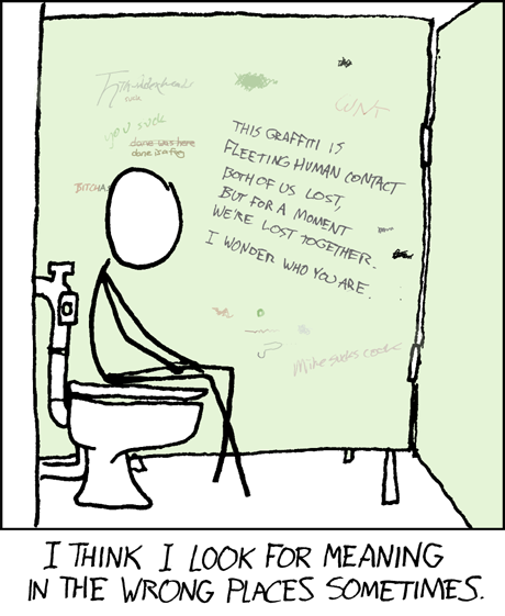 Bathroom Stall Writing Purest Form Of Art loon pond: gerard henderson, gans, leigh, xkcd and lost in a