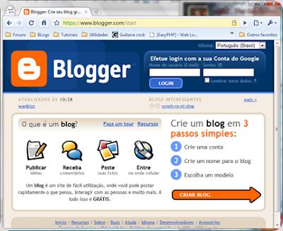 Como criar um blog no Blogspot. Passo a Passo
