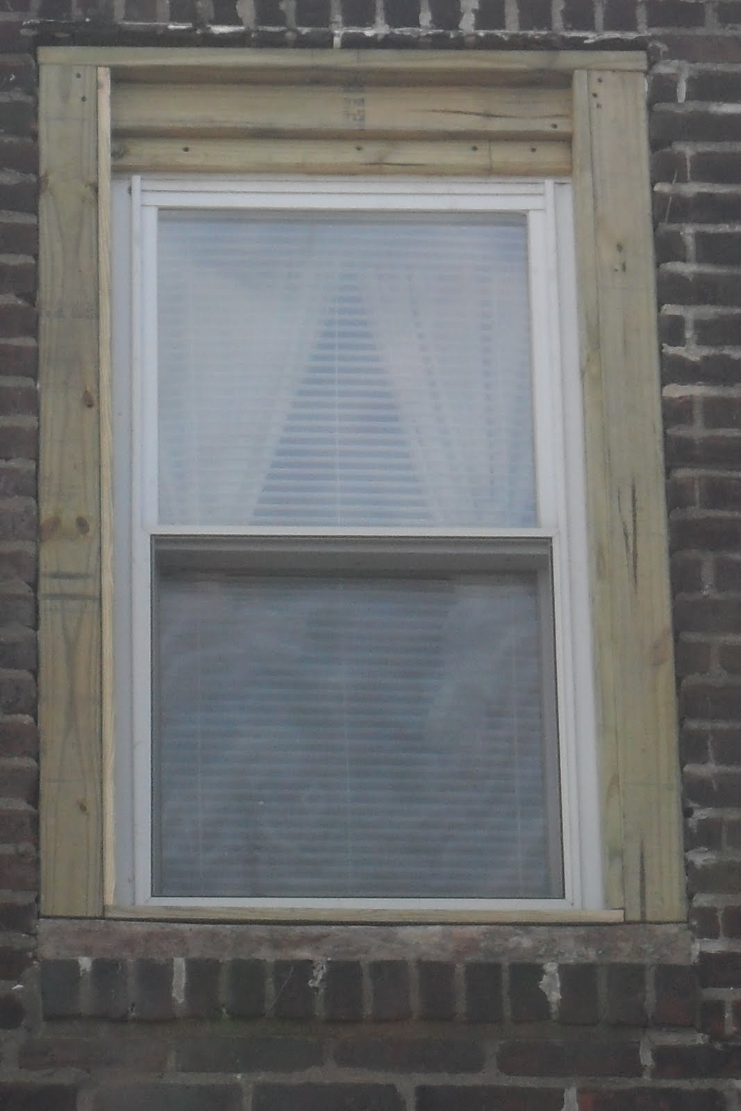 V-Square Improvements: Replace rotted window frame and cap