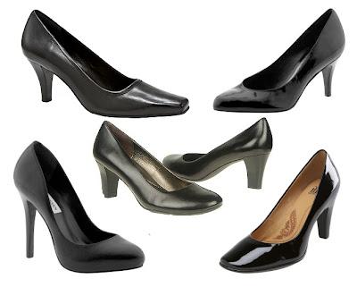 Black Patent Mid Heel Shoes Uk