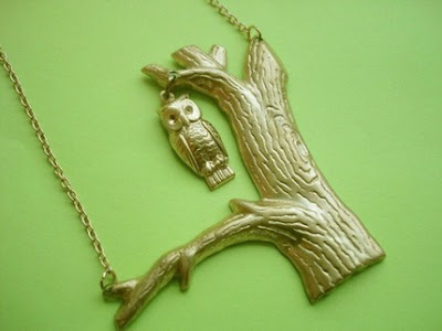 owl in a tree necklace from etsy