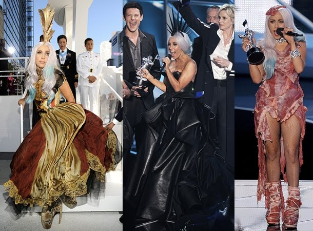 Alexander McQueen'-s Top 5 Girls. Lady Gaga wearing outfit to 2010 ...