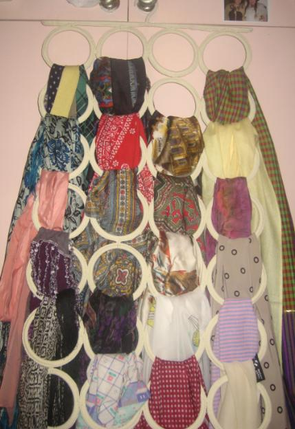 Charming fiends scarf storage saviour for Scarves hanger ikea