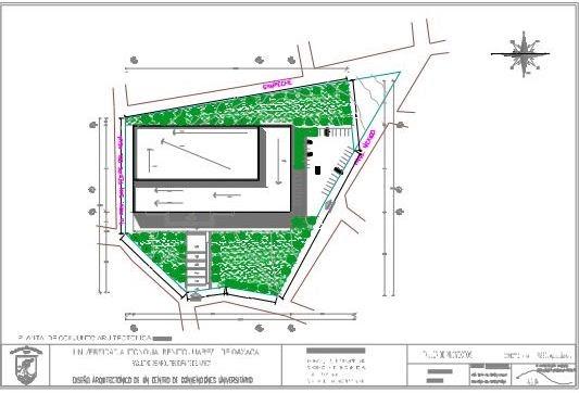 Dise o arquitectonico de un centro de convenciones for Pie de plano arquitectonico pdf