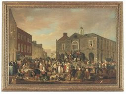 The marketplace and court-house, Ennis, Co. Clare by William Turner de Lond