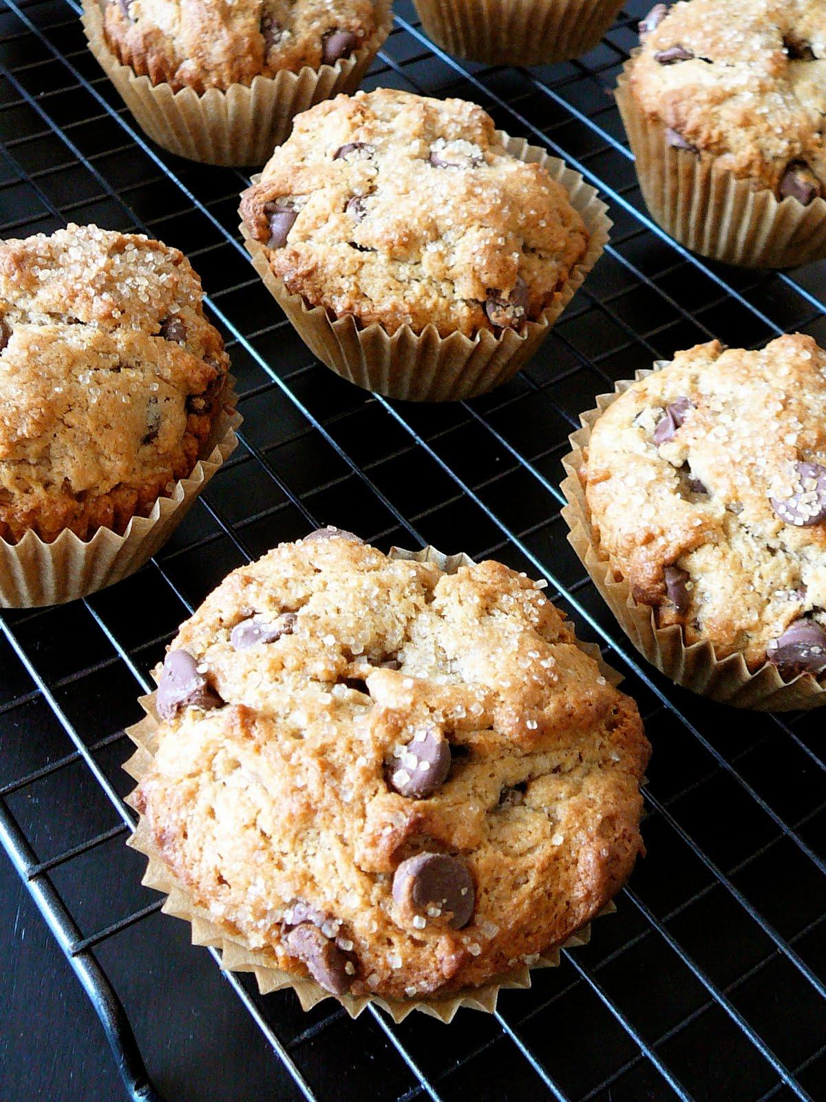 Chocolate Chocolate Chip Banana Muffins With Glaze Recipes ...