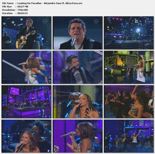 Videoclip Looking For Paradise (Latin Grammy 2009) - Alejandro Sanz ft. Alicia Keys