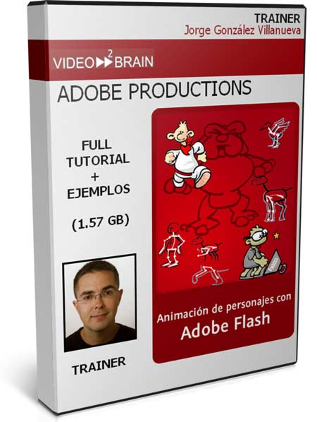 VIDEO2BRAIN: Animación de Personajes con Adobe Flash (2010) (Videotutoriales)