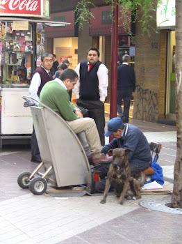 scène de rue à Santiago