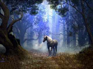 Unicorn In Woods 3D || Top Wallpapers Download .blogspot.com