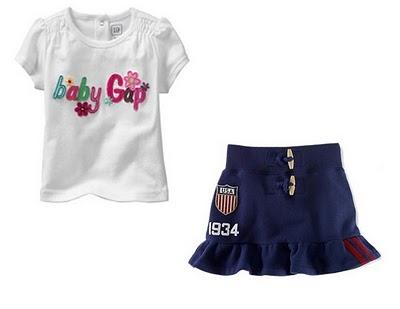 Gap Shirt & Skirt Set