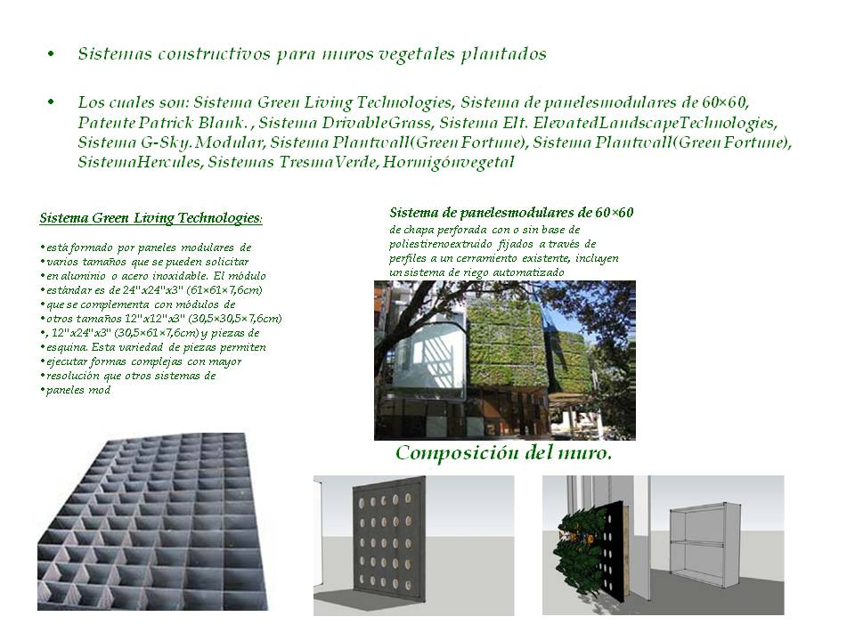 Construccion 2 muros verdes for Muro verde sistema constructivo