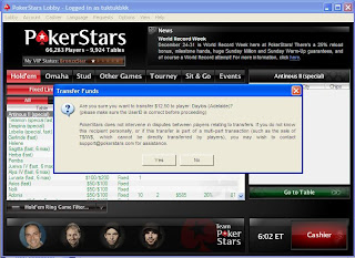 Payment on Pokerstars