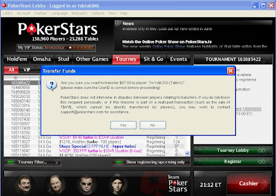 payment at pokerstars