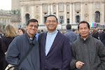 Fr.Nicholas dari Penampang, Fr. Aloysious dari Singapore dan Fr. Francis budak kampung