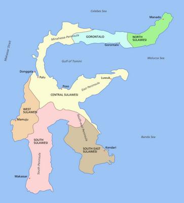 Sulawesi Indonesia Map