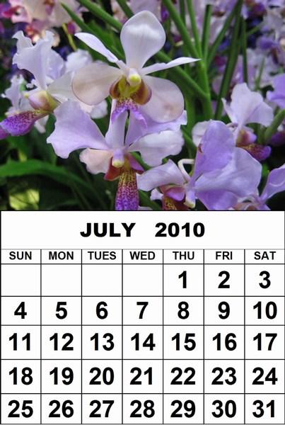 july calendar 2009. word calendar 2009 2010
