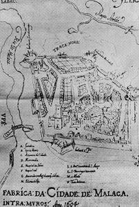 Kota Melaka tahun 1604