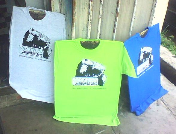 Design T shirt 4x4 Jamboree Kubu Gajah