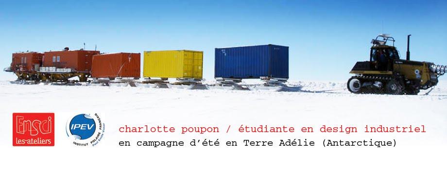 charlotte poupon / étudiante en design industriel en campagne d'été en Terre Adélie