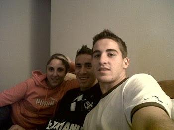 Con Facu y Chichi.
