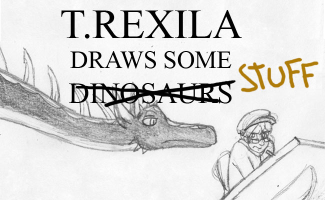 T.Rexila draws some dinosaurs