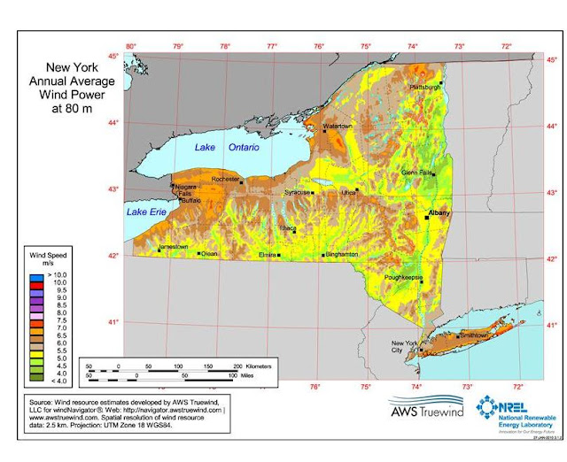 New Wind Map New York State