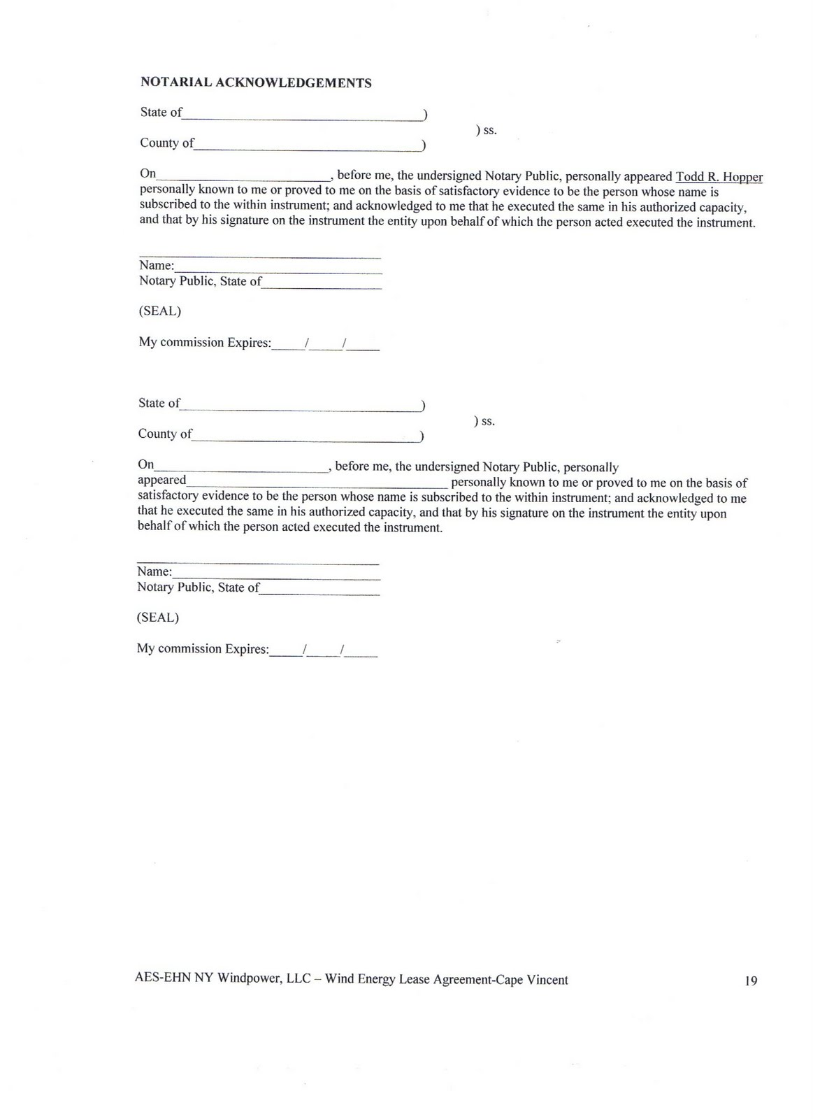 Energy Valley Of New York State Acciona Lease Agreement Pages 17 20
