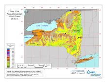 New York State ~ Wind Map