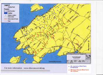 Cape Vincent ~ Industrial Wind Turbine Map