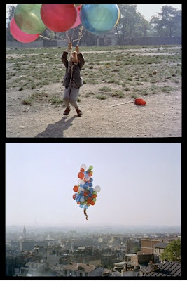 Boy Flies Balloons