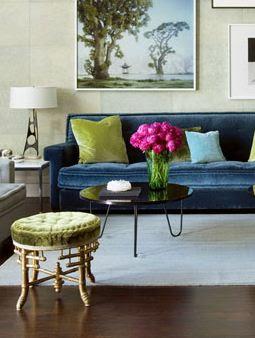 Sink into velvet verdigris vie for Living room ideas velvet