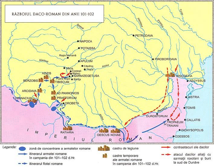 Razboiul Daco-Roman intre anii 101-102