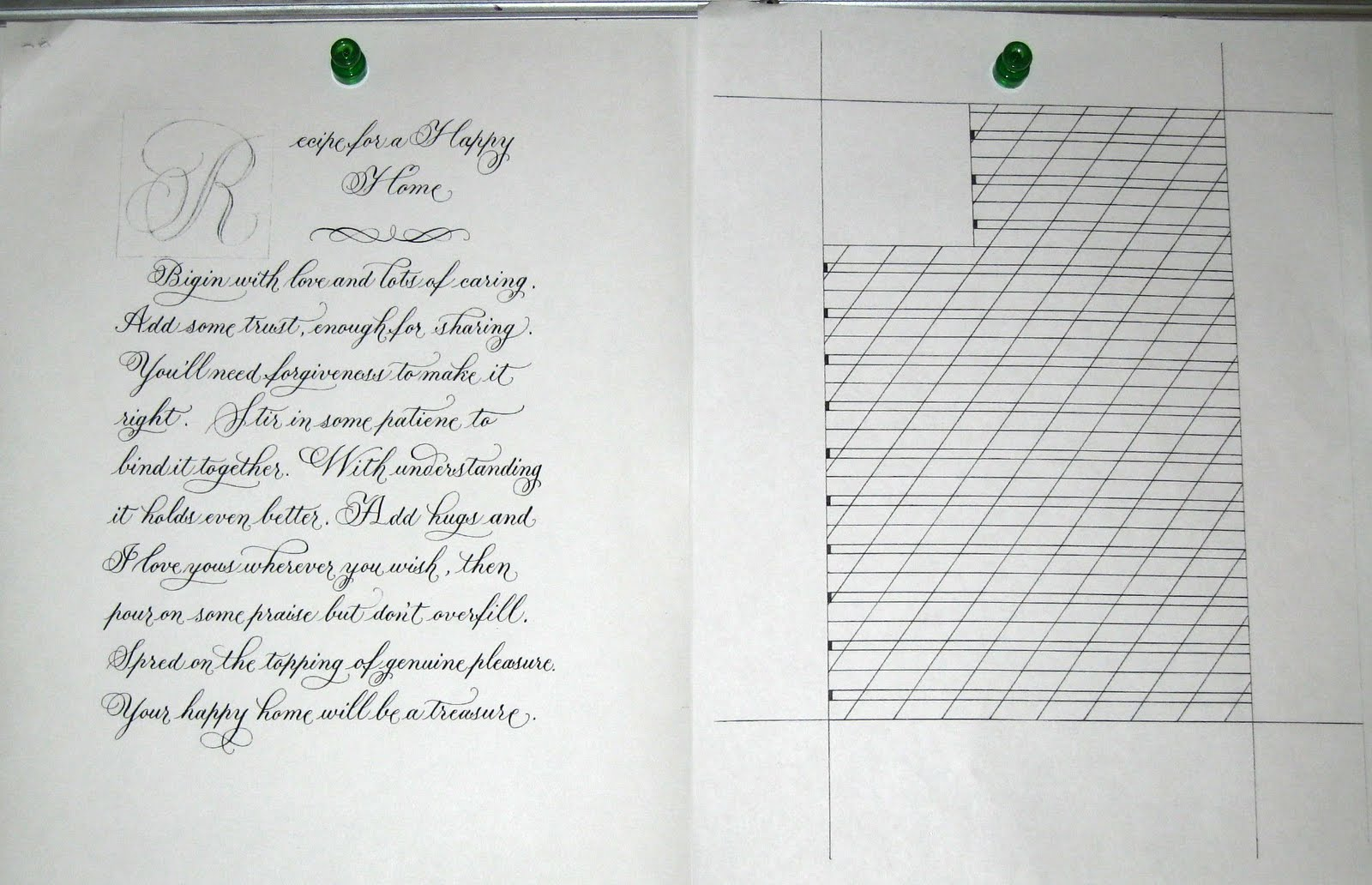 DeAnn Singh Calligraphy: May 10, 2010 - Beverly Hills Adult School ...