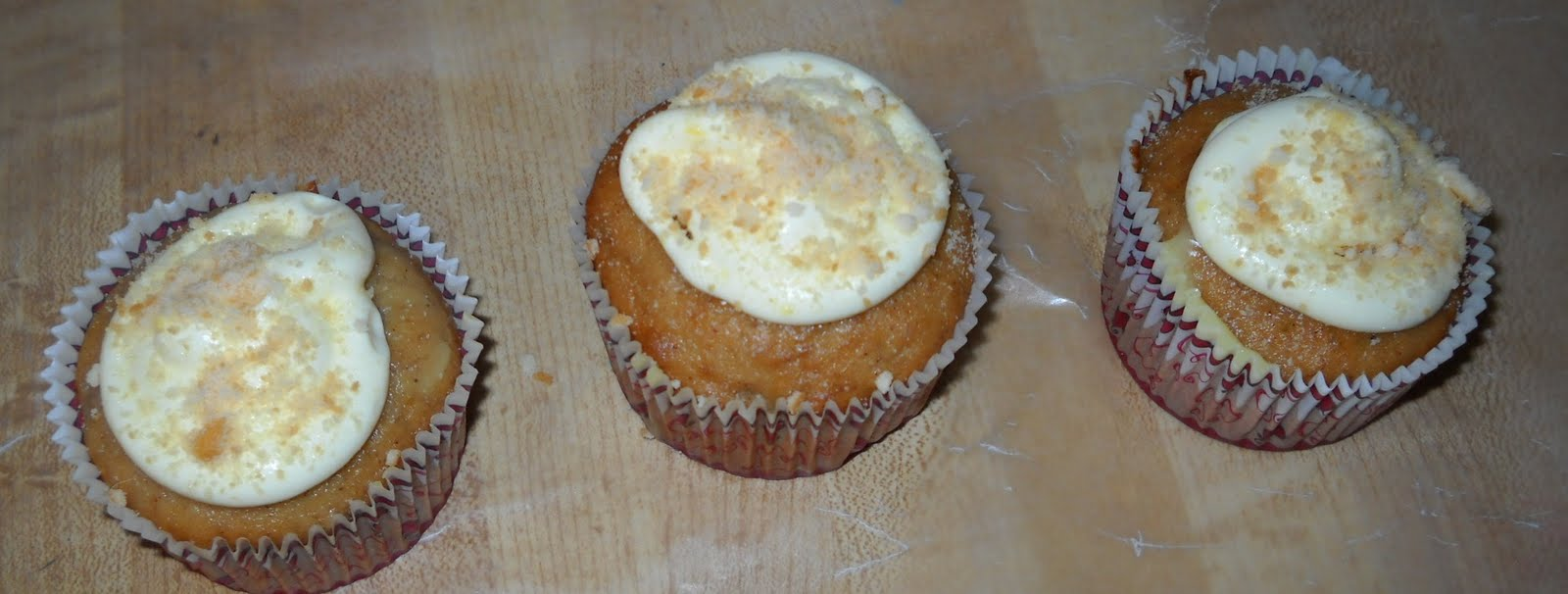 Banana Cream Pie Cupcakes without Banana Garnish.