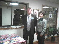 Missy and Tom working at the polls