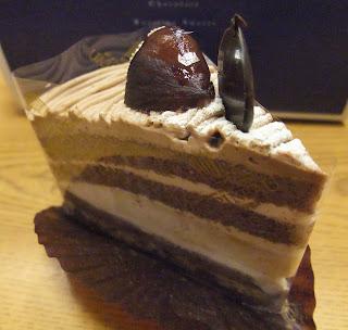 北堀江ル・ピノーのチョコモンブラン系のケーキ