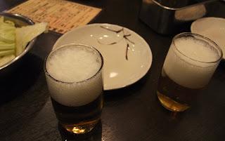 串かつ だるま なんば本店のビール