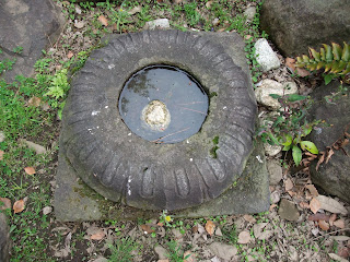藤田邸跡公園の石造物