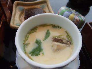 京都駅の伊勢丹の加賀屋の茶碗蒸し