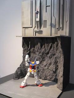 ガンダム VS ジオング ガンダムのラストシュートのジオラマ