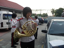 Playing horn..=)